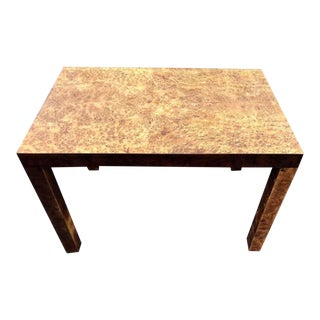 1950's Vintage Milo Baughman Burl Wood Side Table For Sale