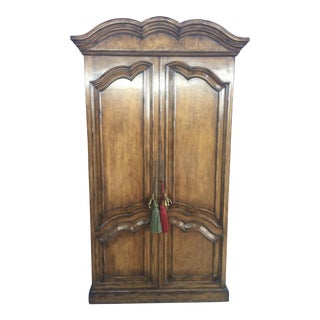 French Style Armoire Bar Cabinet For Sale