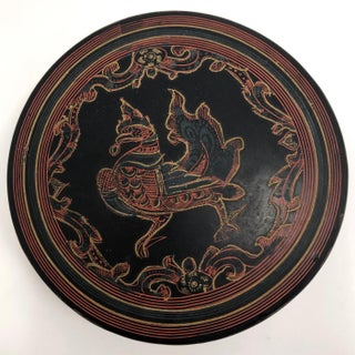 Burmese Yun-De Incised Lacquer Box With Hintha Bird Preview