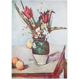 1950s Cezanne Tulips and Apples Lithograph For Sale