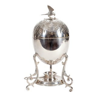 Vintage English Silver Plated Eggs Holder or Warmer For Sale