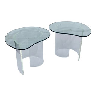 Vladimir Kagan Snail Side Table - a Pair For Sale