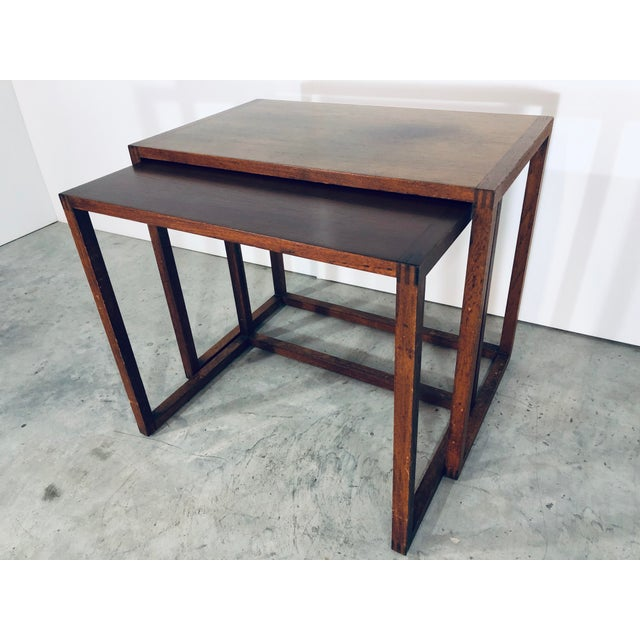 Karl-Erik Ekselius Nesting Tables for j.o. Carlsson - 2 Pieces For Sale - Image 13 of 13
