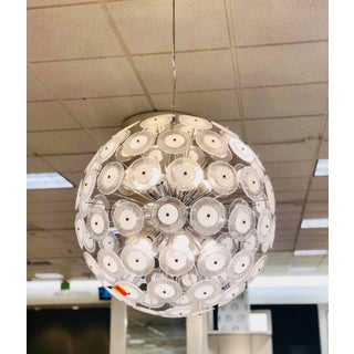 "Italian Murano Glass Disc With Chrome Frame 30"" Sputnik Chandelier Preview"