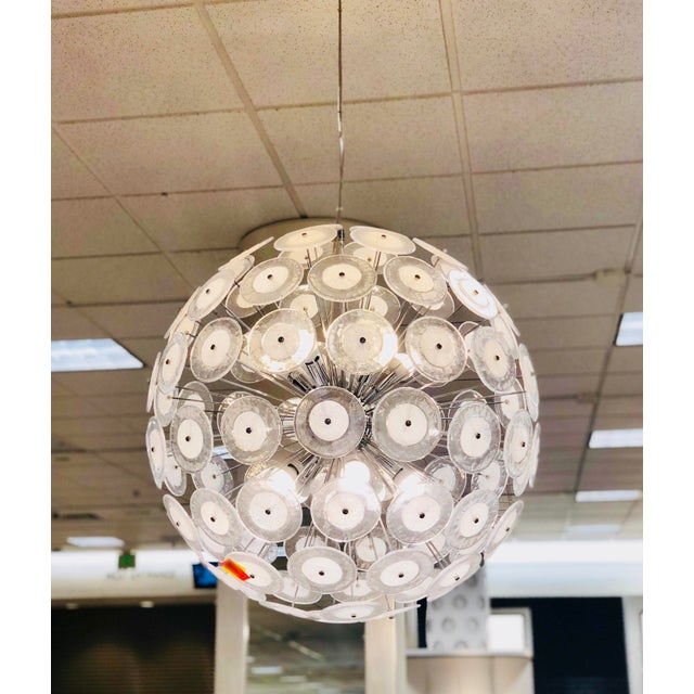 We are very pleased to offer an extraordinary, luxurious, Italian sputnik chandelier. This magnificent piece showcases a...