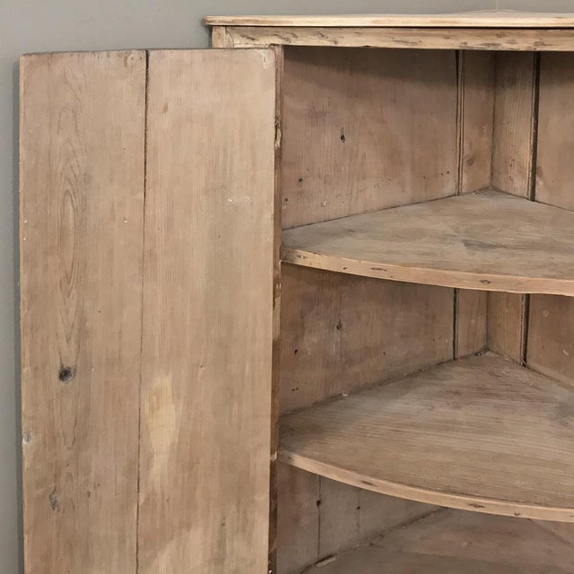 19th Century Swedish Stripped Pine Corner Cabinet For Sale In Dallas - Image 6 of 12