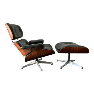 1970s Vintage Icf for Eames Rosewood Lounge Chair & Ottoman For Sale