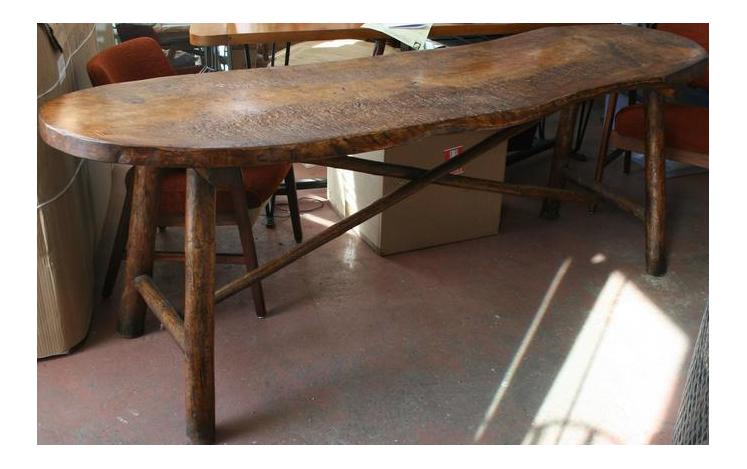 Live Edge Single Slab Console Table For Sale