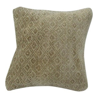 Vintage Handmade Beige Turkish Pillow Cover For Sale