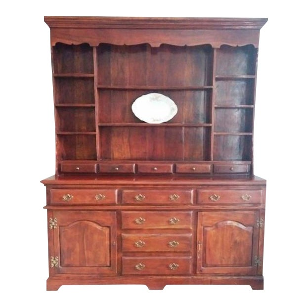 Theodore Alexander Solid Walnut Open China Cabinet - Image 1 of 7