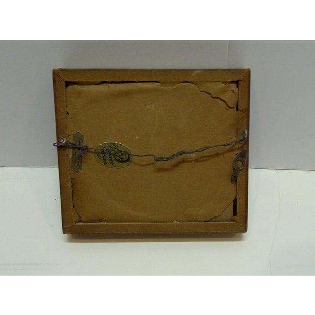 """Vintage """"Swinging on a Swing"""" Framed Enamel For Sale - Image 5 of 6"""