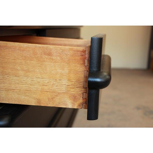Vintage Jay Spectre for Century Furniture Cerused Oak & Chrome Dresser - Image 10 of 11