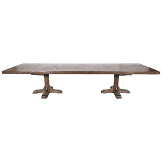Custom Twelve-Foot French Farmhouse Table Made from Imported French Oak For Sale