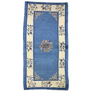 "Early 20th Century Antique Chinese Peking Accent Rug - 3'00"" × 5′9″ For Sale"