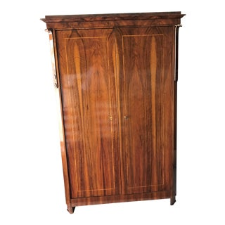 Early 19th Century Biedermeier Walnut Armoire For Sale