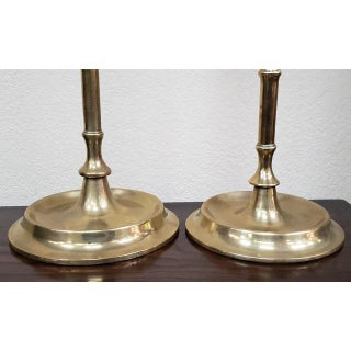 Pair of Early 20th Century Solid Brass Candlesticks C.1900 Preview