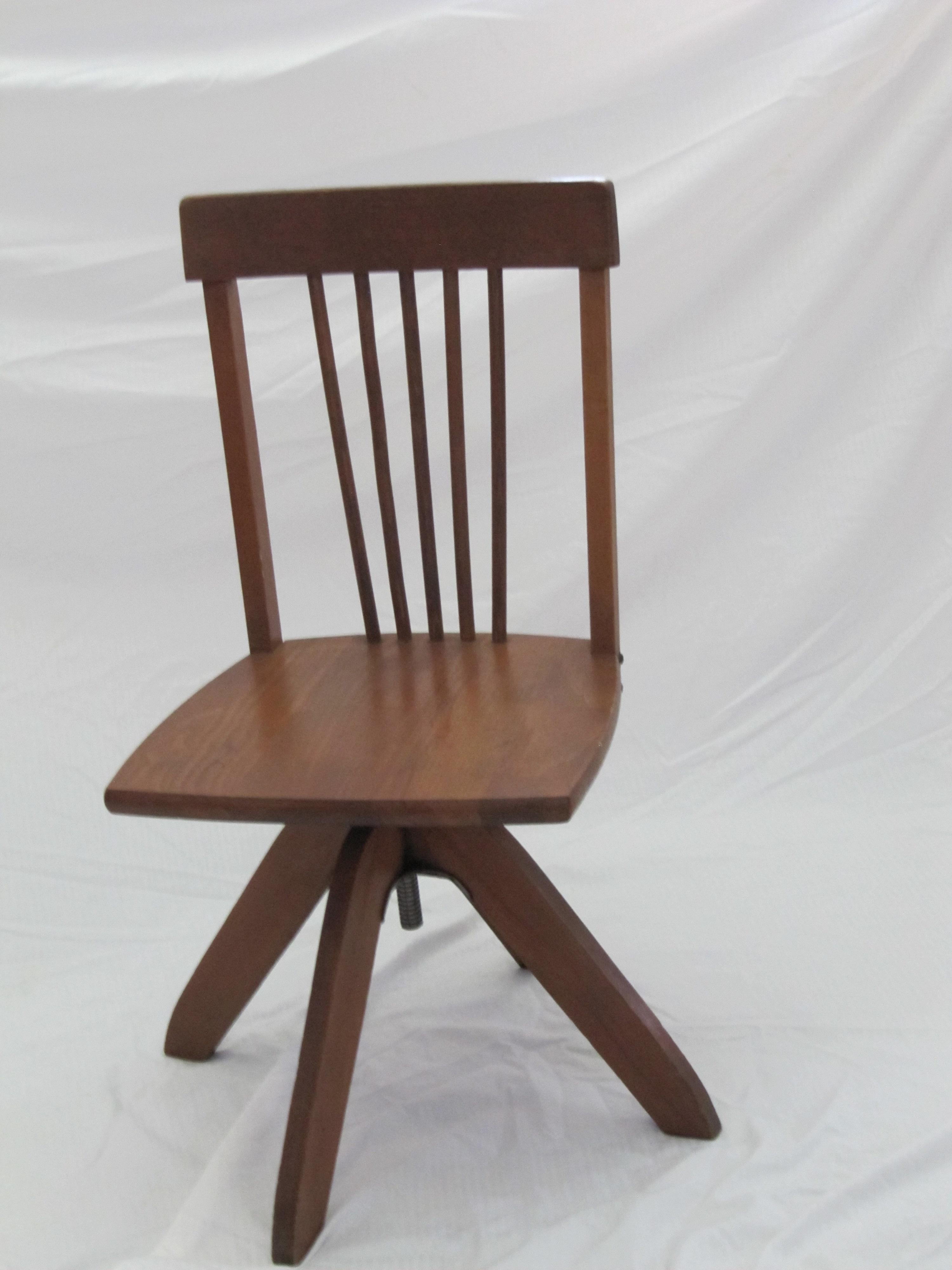 Offered Is A Vintage Childrenu0027s Wood Swivel Desk Chair. Excellent Condition  For Its Age,