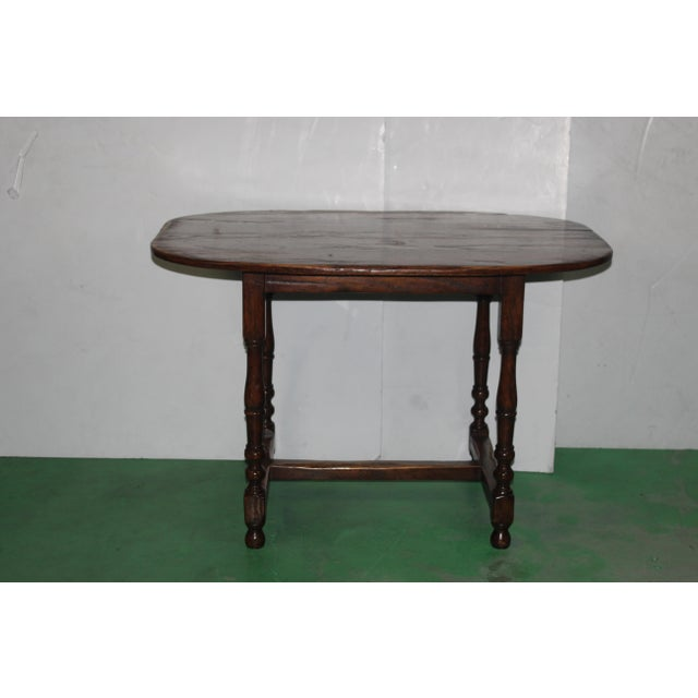 English Country Walnut Table - Image 2 of 5