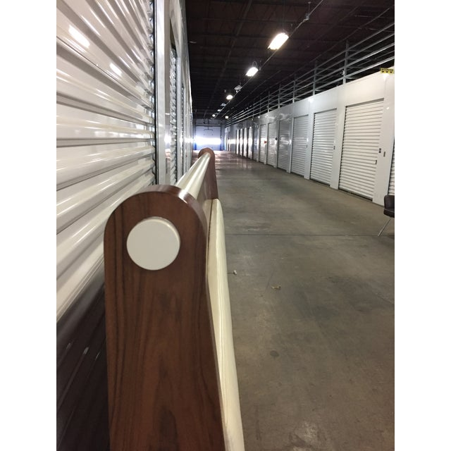 King Solid Mahogany and Leather Bed Headboard by Morlen Sinoway For Sale In Chicago - Image 6 of 13