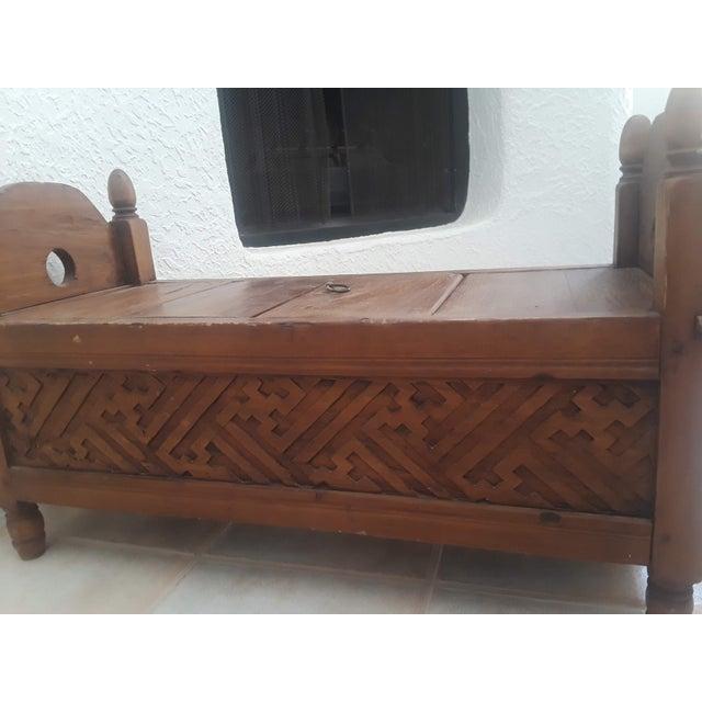 Indonesian Jodang Teak Wood Table For Sale - Image 4 of 8