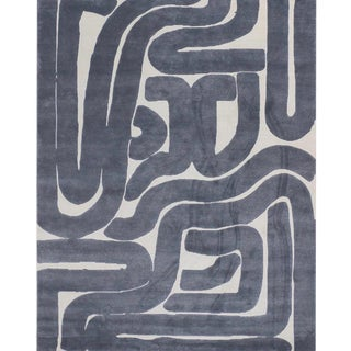 Noodle 5' x 8' Rug - Blue For Sale