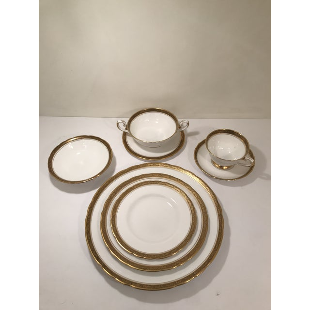 Royal Tuscan Fine Bone China 24k Gold Plated Trim and Black Trim Tableware For Sale In Sacramento - Image 6 of 7
