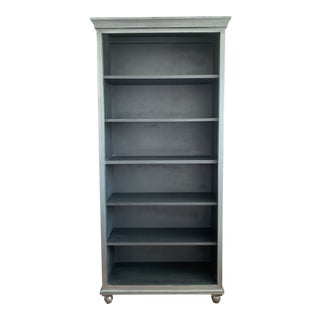 Shabby Chic Brushed Silver Bookcase For Sale