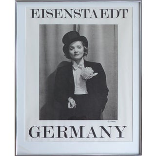 Marlene Dietrich Poster by Alfred Eisenstaedt, Hand-Signed by the Photographer For Sale
