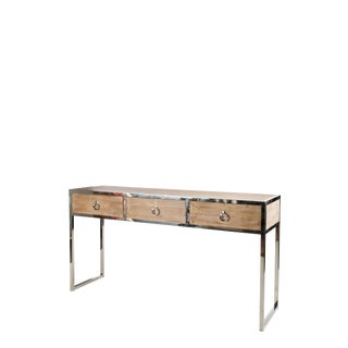 Statements By J Toretto Console Table With Silver Legs