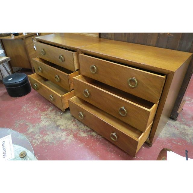 1960s 1960s Vintage Widdicomb Walnut 3 Drawer Chest For Sale - Image 5 of 8