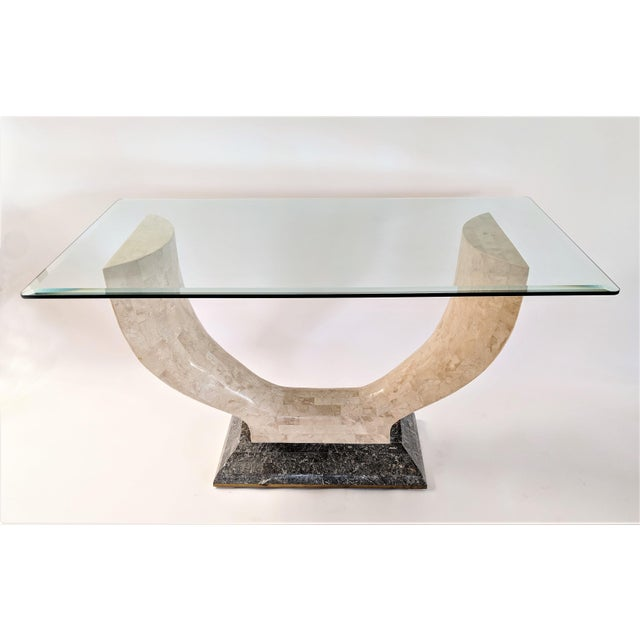 Maitland - Smith 1970s Mid-Century Modern Maitland Smith Tessellated Stone Console or Center Table For Sale - Image 4 of 13