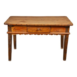 Early 19th Century French Baroque Pine & Oak Table For Sale