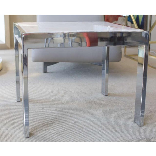 Marble & Steel Side Tables - A Pair For Sale In Miami - Image 6 of 6