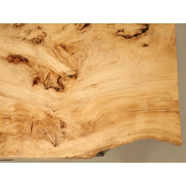 French Burl Elm Slab Dining Table, or Desk For Sale In Chicago - Image 6 of 11