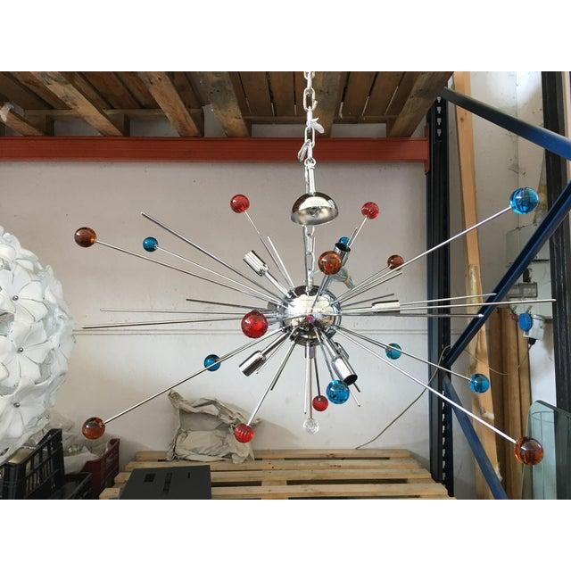 Murano Vintage Murano Glass Triedo Sputnik Chandelier For Sale - Image 4 of 4