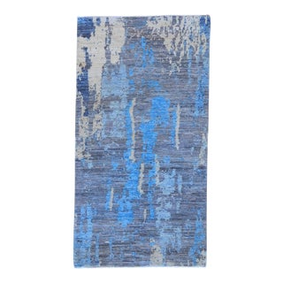 "Handmade Modern Wool Rug - 2'7"" X 4'9"" For Sale"