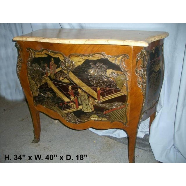 Louis XV Style Chinoiserie Coromandel Commode, 19th Century For Sale - Image 4 of 9