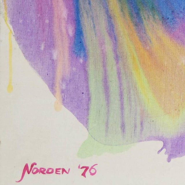 Signed lower left, 'Norden' for Frealon Norden Bibbins (American, 1926-2013) and dated 1976. Inscribed verso, 'Blue...