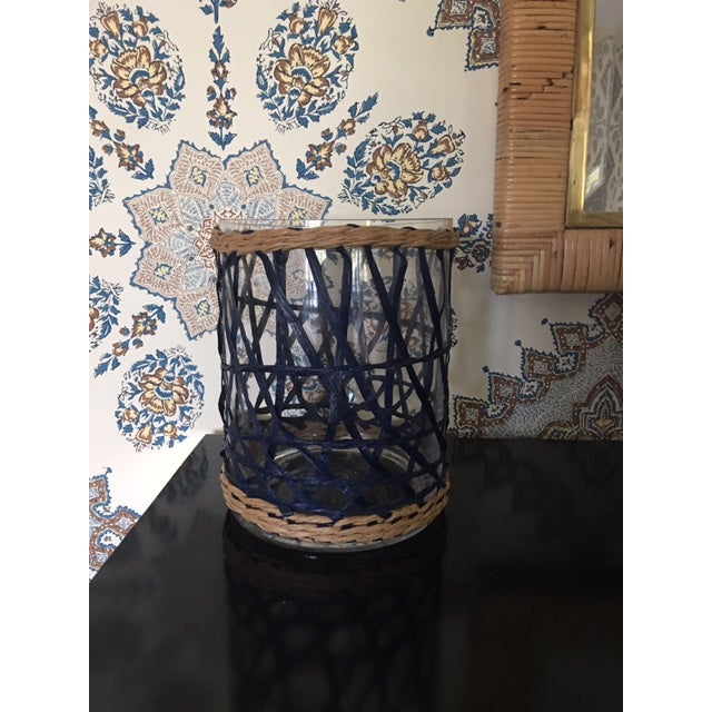 Amanda Lindroth Amanda Lindroth Rattan Covered Hurricane For Sale - Image 4 of 6