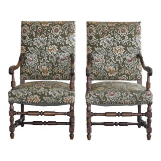 Danish Ricoco Style Two Armchairs For Sale