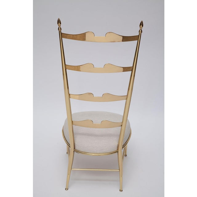 Rare Tall Back Brass Chiavari Chairs With Truncated Legs For Sale - Image 10 of 11