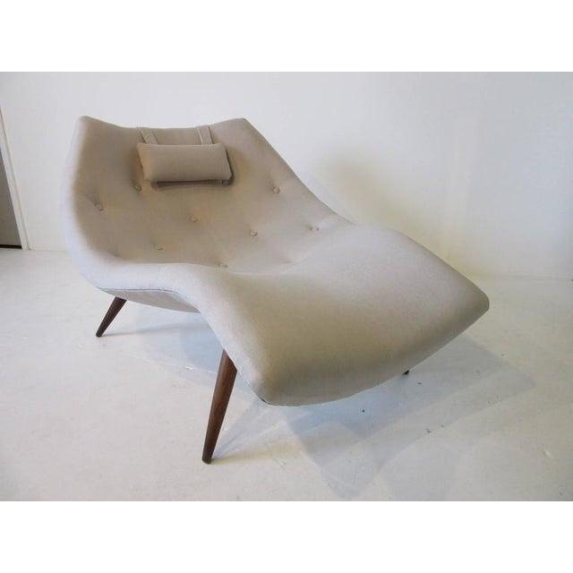 Rare Adrian Pearsall Chaise Lounge Chair For Sale - Image 9 of 10