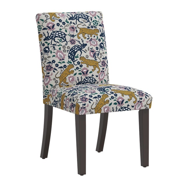 Purple Dining Chair in Leopard Mustard Plum Fabric For Sale - Image 8 of 8