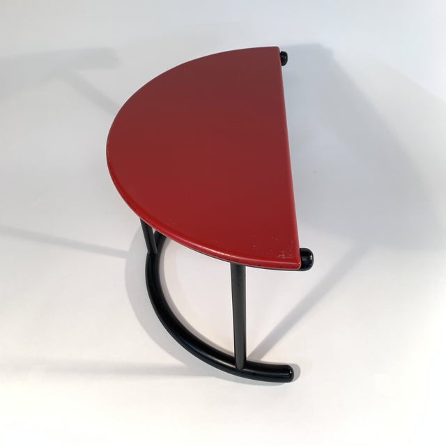 Gianfranco Frattini Demilune Side Table For Sale In San Francisco - Image 6 of 13