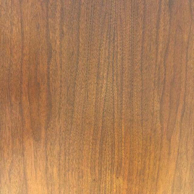 Wood Robsjohn Gibbings Walnut Coliseum Side Table For Sale - Image 7 of 11