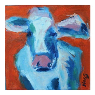 Abstract Cow Oil Painting For Sale