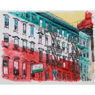 New York Little Italy Cityscape by Cleo