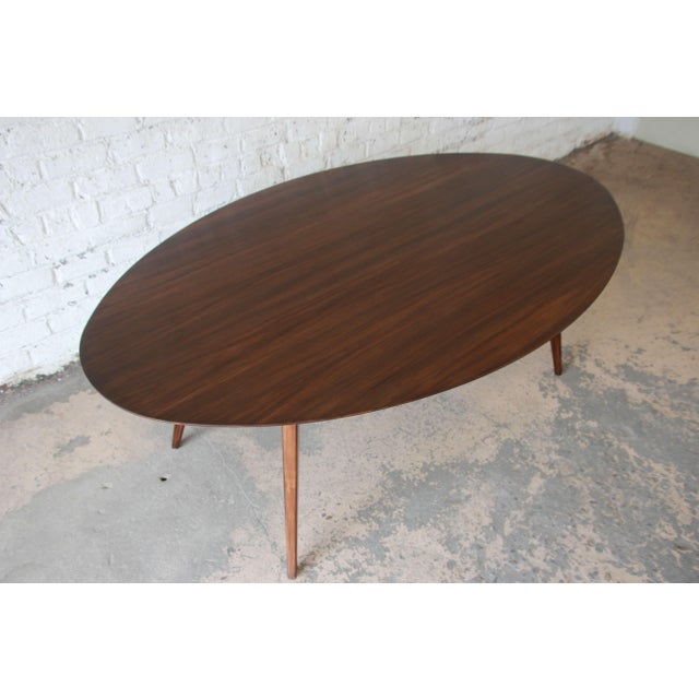 Knoll Walnut Eliptical Dining or Conference Table For Sale In South Bend - Image 6 of 10