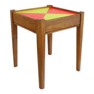 1960s Contemporary Teak Wood Side Table