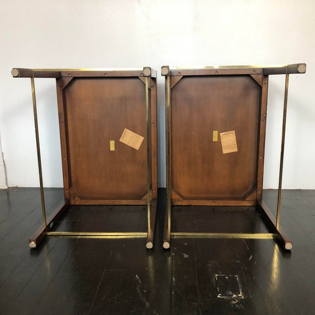 Metal Edward Wormley Dunbar Side Tables - a Pair For Sale - Image 7 of 12